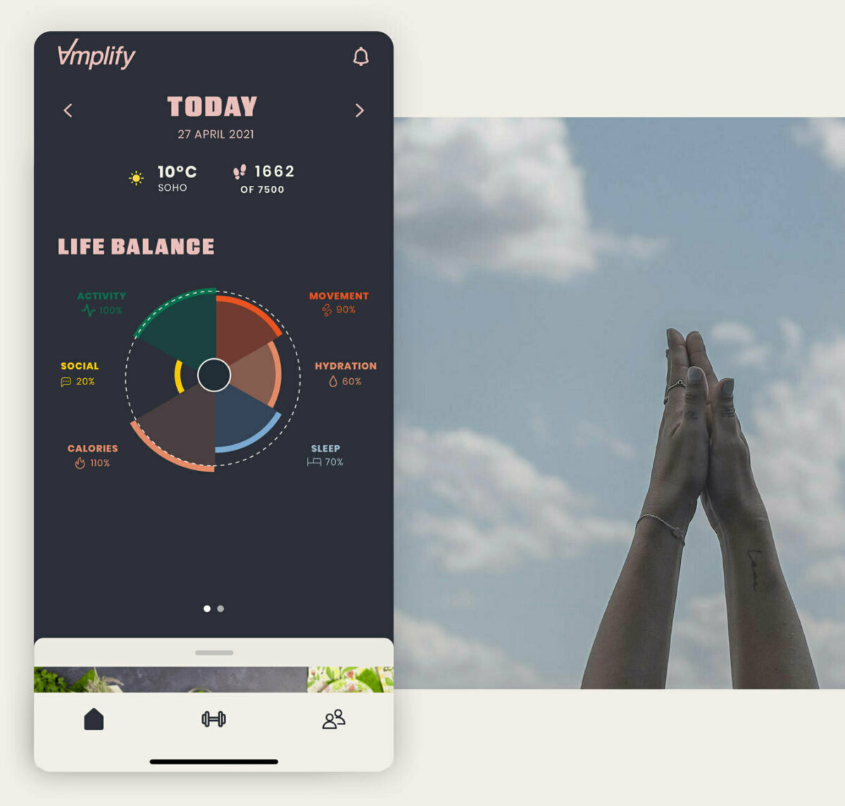 Amplify Life Balance App screen